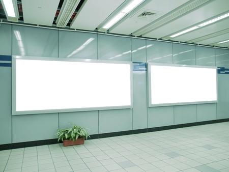 Blank billboard in underground passage Stock Photo - 9448984