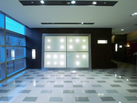 shiny: Blank billboard in modern building