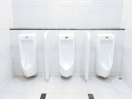 the piss: Men lavatory in modern building
