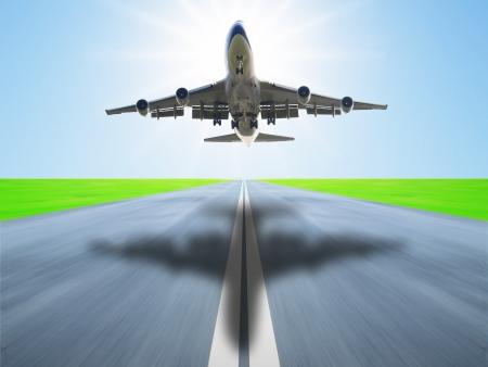planos electricos: Avi�n despegar de la pista