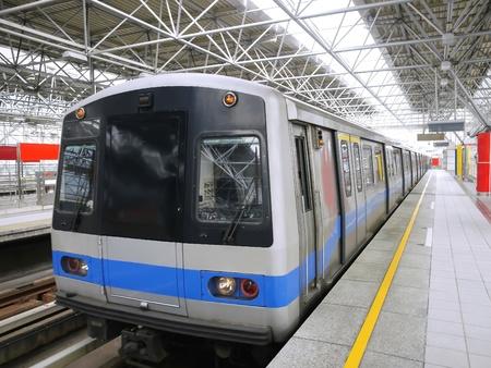 bullet train: Mass rapid transit Stock Photo