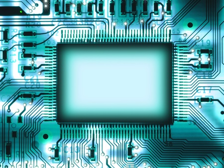 Blank chip on circuit board Stock Photo - 9567393