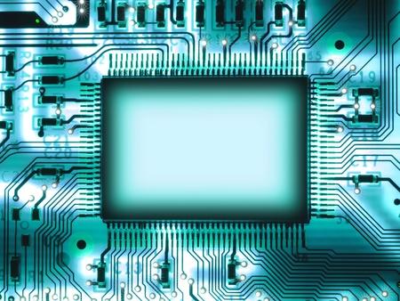 Chip en blanco en la placa de circuito
