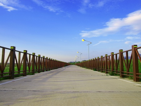 could: Long walkway in countryside
