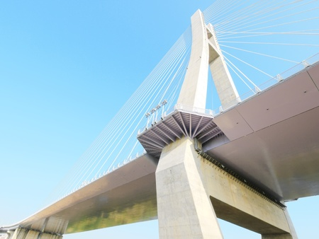 Look upward draw bridge  photo