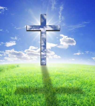 Cross and sunlight photo