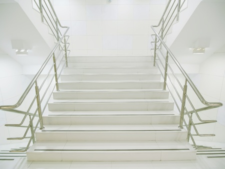 metal handrail: Staircase in modern building