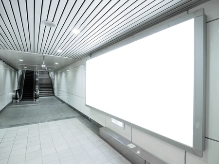 Blank billboard in underground passage  Stock Photo - 10348208