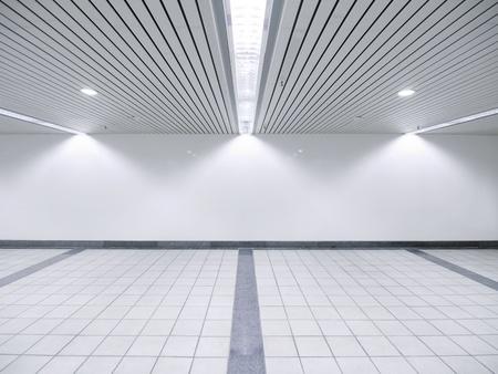 shiny floor: Spot light and blank wall