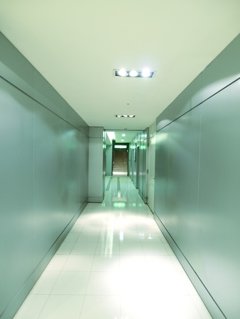 Corridor in modern building photo