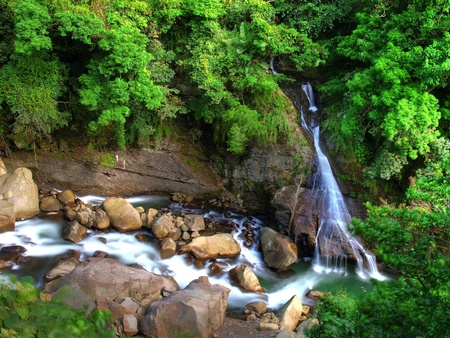 Waterfall and river Stock Photo - 10348215