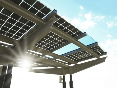 construction plant: Solar power panel