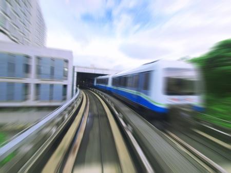 time lapse: Mass rapid transit Stock Photo