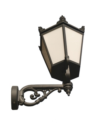 bracket: Isolated street lamp on white Stock Photo