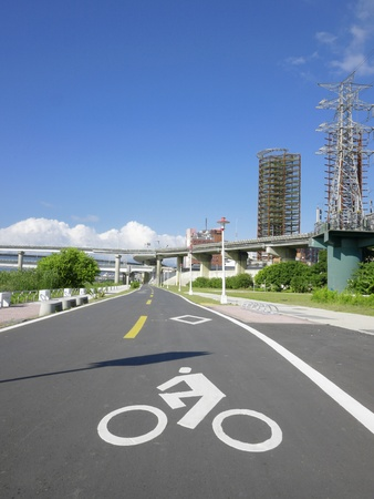 Bicycle way in the park photo