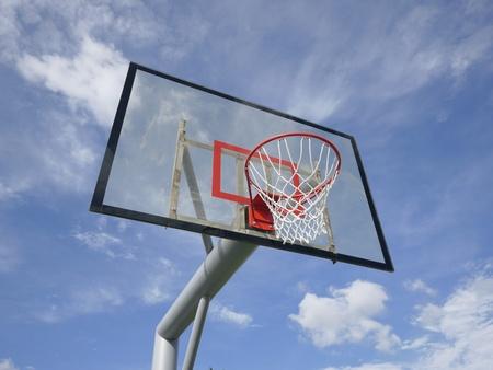 Basketball rim and net Stock Photo - 10639931