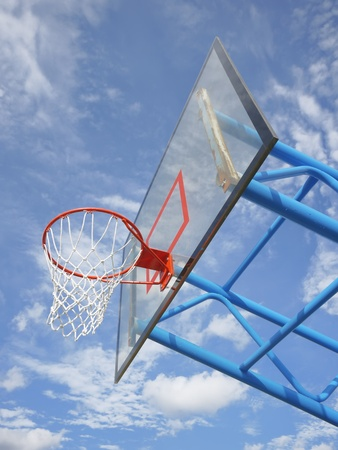 Basketball rim and net Stock Photo - 10639949