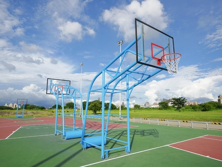 Outdoor basketball court Stock Photo - 10639969