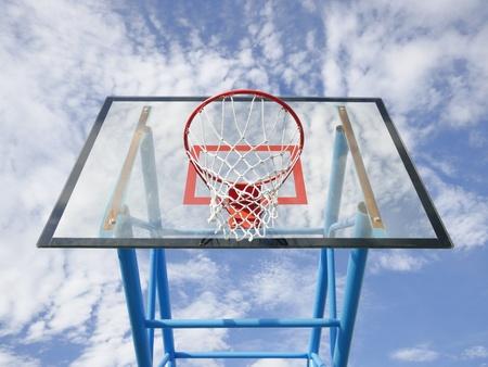Basketball rim and net  Stock Photo - 10802351