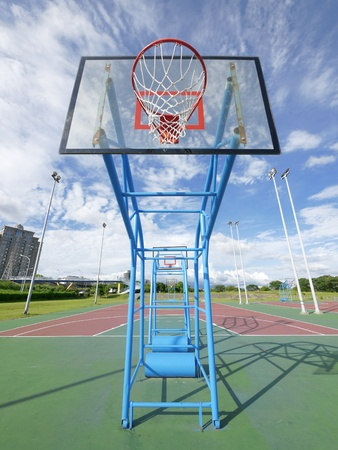 Outdoor basketball court Stock Photo - 10802368