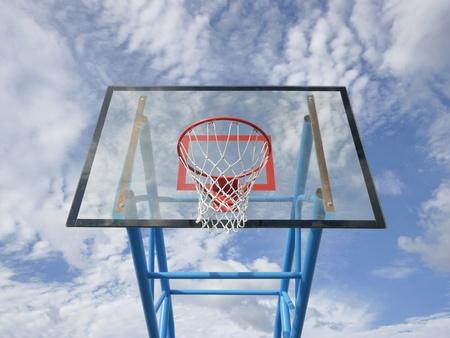 Basketball rim and net Stock Photo - 10928638