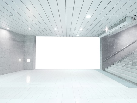 clean street: Blank wall and staircase Stock Photo