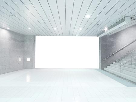 Scalinata e muro bianco