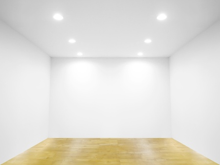 Spot light and blank wall Stock Photo - 10928574