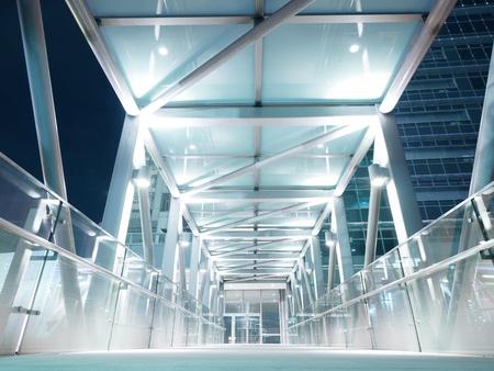 Bright elevated walkway photo