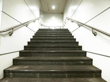 handrail: Staircase in underground passage