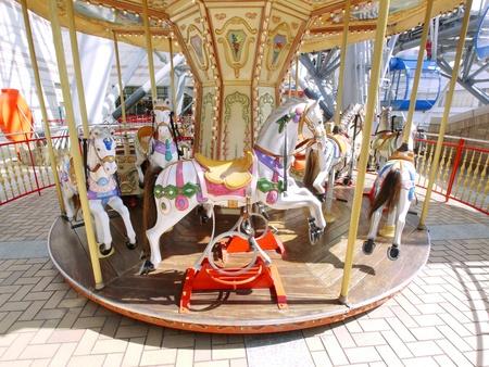 merry-go-round in pleasure park photo