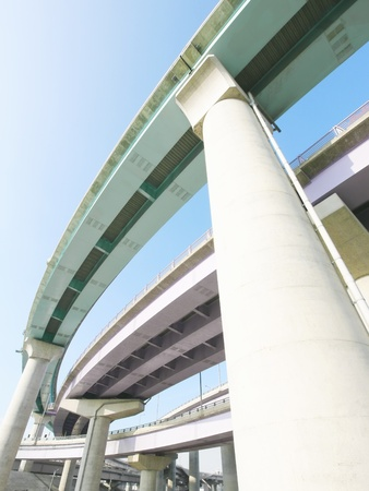 overpass: Pillars of viaduct