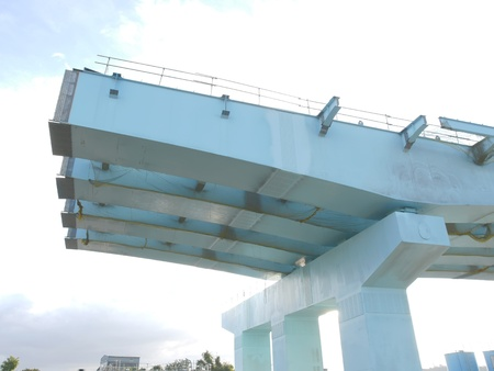 Bridge under construction photo