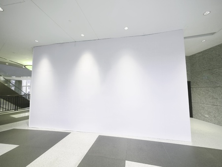 store interior: Blank white wall