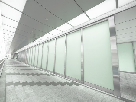 Long walkway in modern building photo