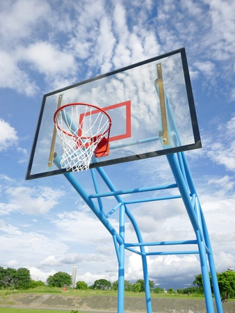 Basketball rim and net Stock Photo - 12268927