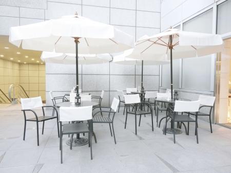 outdoor restaurant: Outdoor restaurant in modern building
