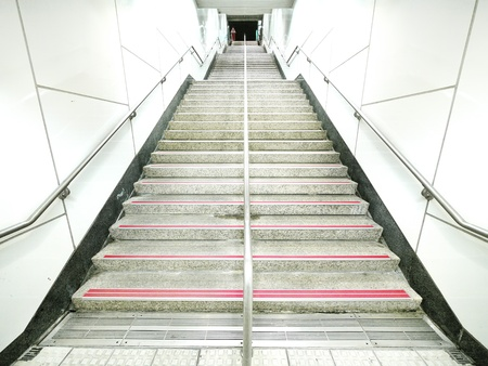 Staircase in underground passage  photo
