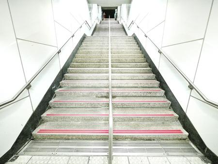 Staircase in underground passage  photo