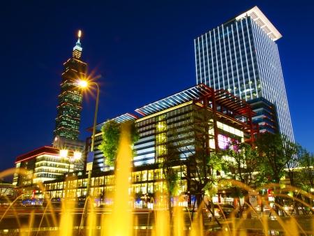 taipei: Night scene in Taipei Taiwan