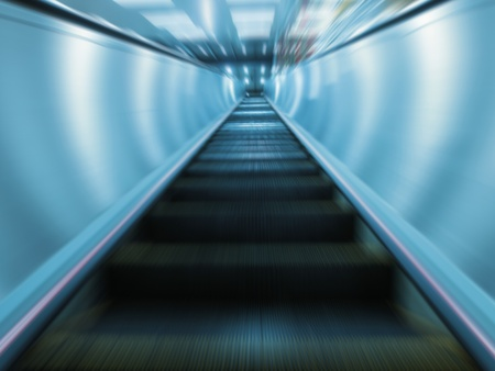 Moving escalator photo