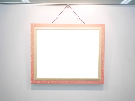 Art gallery with blank canvas photo