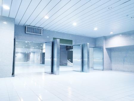 emergency lane: Emergency exit in underground passage