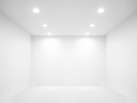 Spot light and blank wall photo