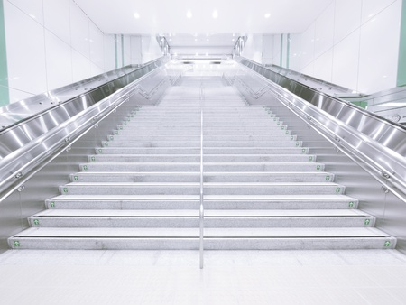 Long staircase in underground photo
