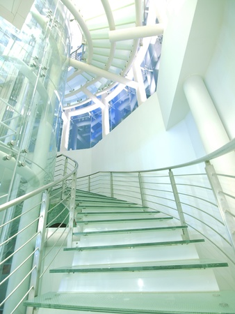 burnish: Staircase made by glass