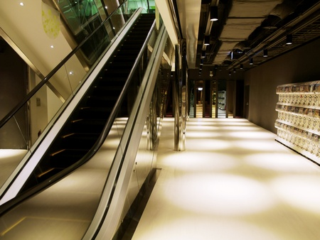 bright center: Escalator in department store