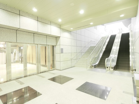 Staircase and entrance in underground photo