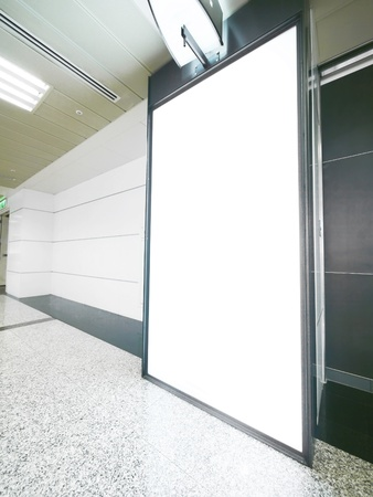 Blank wall and corridor in modern building photo