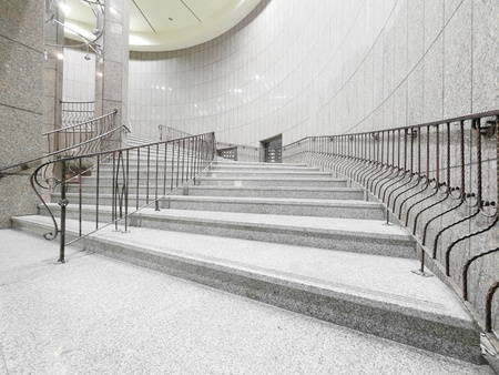 Staircase in modern building photo